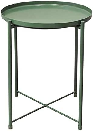 Foldable /& Removable Round Side Tables GREEN LYME End Table Anti-Rust and Waterproof Snack TableSuitable for Living Room Bedroom Home Storage