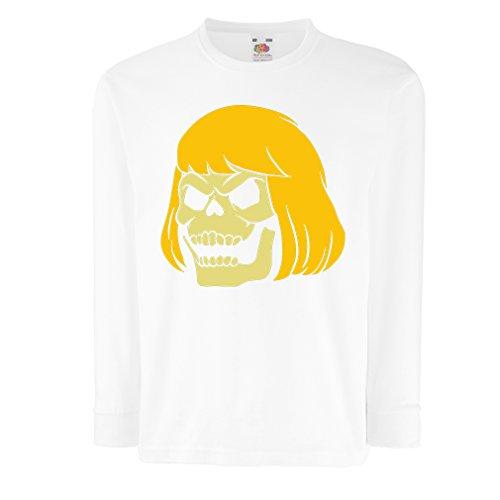 (lepni.me T-Shirt for Kids Blonde Skull (7-8 Years White Multi)