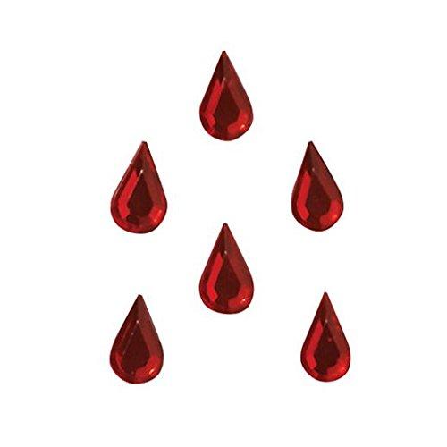 Fancy Face Paint Color Halloween Blood Drop Vampiress Jewels