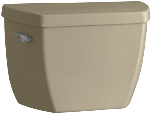 Kohler K-4484-T-33 Highline Classic 1.0 gpf Toilet Tank with Tank Cover Locks and Left-Hand Trip Lever, Mexican Sand