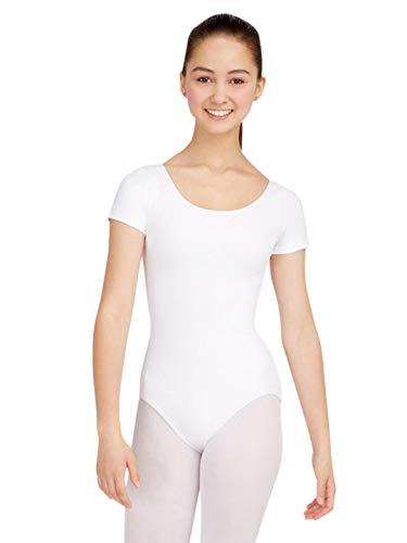 Ladies Capezio Leotard - Capezio Women's Classic Short Sleeve Leotard,White,Medium