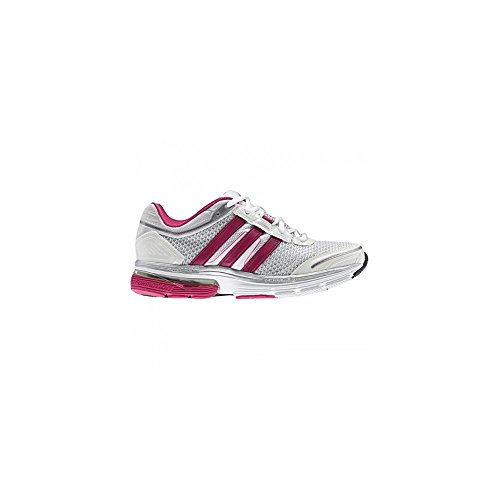Adidas AW12 - Zapatillas de running para mujer, color blanco y rosa White / Silver / Pink Talla:41 - White / Silver / Pink