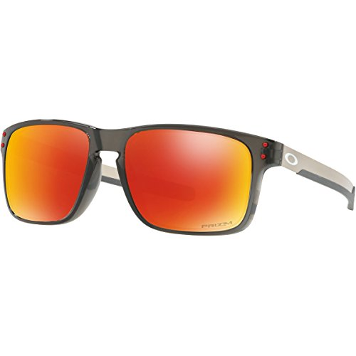 Oakley Men's Holbrook Mix Polarized Iridium Rectangular Sunglasses, Grey Smoke, 57.0 - Oakley Lenses Holbrook Polarized Grey
