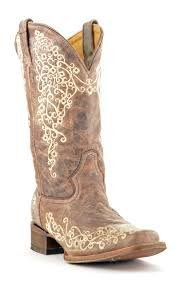 Corral Women's A2663 Crater Embroidery Brown Fashion Boots 6 M
