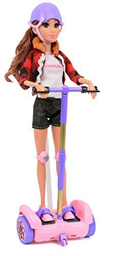 Click N' Play RC Remote Control Pink and Purple Hoverboard Perfect for 12'' Inch Barbie Dolls.