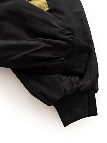 SweatyRocks Women's Casual Color Block Drawstring Hooded Windbreaker Jacket