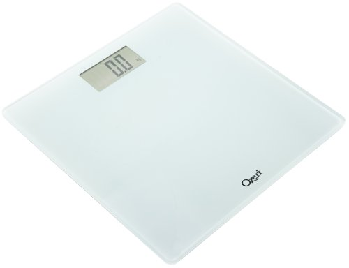 Ozeri Precision Digital Bath Scale (400 Lbs Edition), In Tempered Glass With Step-on Activation, White