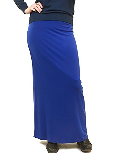 Famous Slinky Skirt Royal Blue J4
