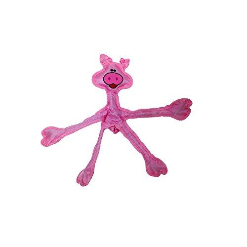 Multipet 43325-1 Skele-Ropes Animals Toy, Pig, 15