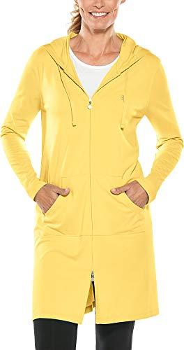 Coolibar UPF 50+ Women's Cabana Hoodie - Sun Protective (Medium- Light Yellow)