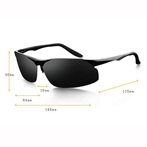 soleil UV400 randonneur Lunettes lunettes lunettes lunettes soleil de de noires soleil hommes de soleil lunettes cadea soleil soleil de UV lunettes de pare A cadeaux protection de nouvelles Frame; Gray Black soleil de de 605q0