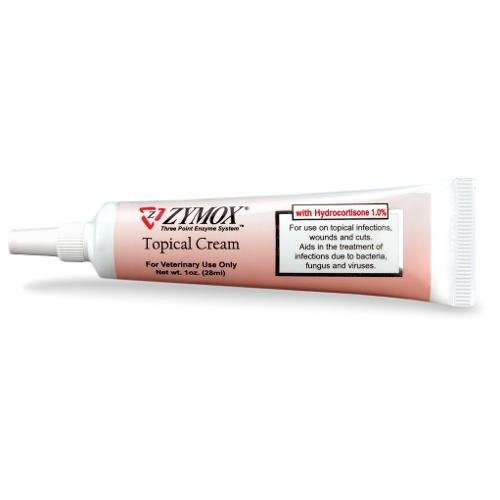 - Zymox Topical Cream with 1% Hydrocortisone for Dogs and Cats 1 oz