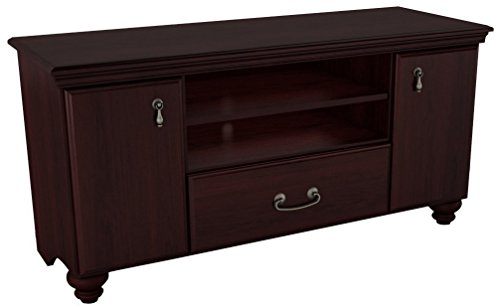 South Shore Traditional Hutch - South Shore Large TV Stand with Doors and Drawer for TVs up to 65'', Dark Mahogany