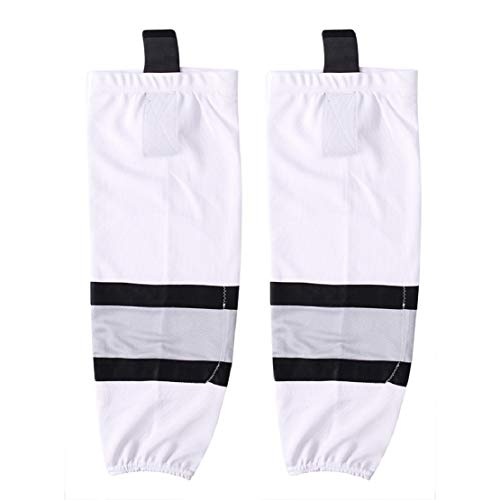COLDINDOOR Hockey Socks, Adult Full Game Team Senior Ice Hockey Socks for Men White L