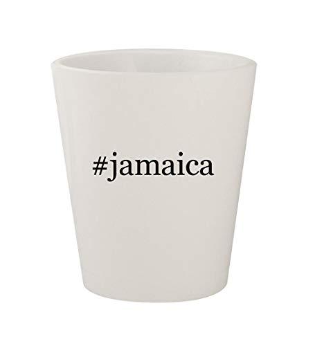 #jamaica - Ceramic White Hashtag 1.5oz Shot Glass