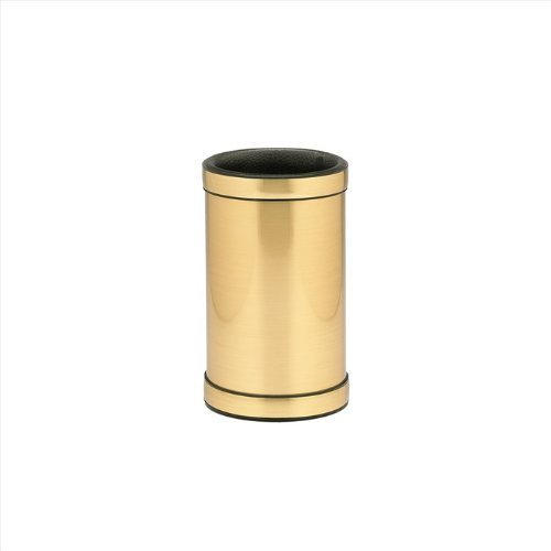 Kraftware Mylar Brushed Brass Deluxe Wine Chiller with Bands 76578