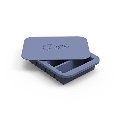 W&P WP-ICE-CO-BL1 Peak Ice Works Collins Silicone Ice Tray, BPA Free, Dishwasher Safe, Peak Blue by W&P (Image #1)'