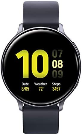 Samsung Galaxy Watch Active2 W Enhanced Sleep Tracking Analysis, Auto Workout Tracking, and Pace Coaching 44mm, GPS, Bluetooth , Aqua Black – US Version with Warranty