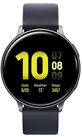 [해외]Samsung Galaxy Watch Active2 w enhanced sleep tracking analysis auto workout tracking and pace coaching (44mm) Aqua Black - US Version with Warranty / Samsung Galaxy Watch Active2 w enhanced sleep tracking analysis, auto workout tr...