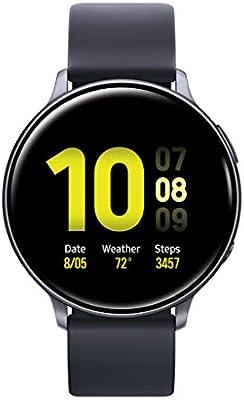 Amazon Com Samsung Galaxy Watch Active2 44mm Gps Bluetooth Aqua Black Us Version