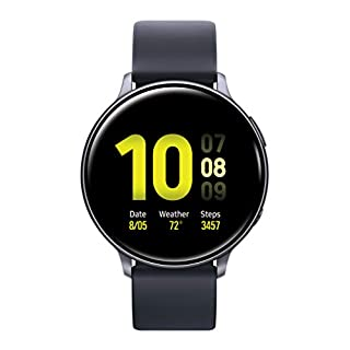 Samsung Galaxy Watch Active 2 (44mm, GPS, Bluetooth) Smart Watch with Advanced Health monitoring, Fitness Tracking , and Long lasting Battery - Aqua Black (US Version)