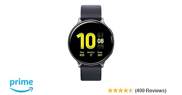 Samsung Galaxy Watch Active2 W/ Enhanced Sleep Tracking Analysis, Auto Workout Tracking, and Pace Coaching (44mm), Aqua Black - US Version with ...