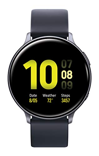 Samsung Galaxy Watch Active2 W/ Enhanced Sleep Tracking Analysis, Auto Workout Tracking, and Pace Coaching (44mm), Aqua Black - US Version with Warranty