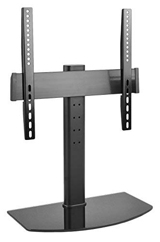 (VIVO Universal LCD LED Flat Screen TV Table Top Desk Stand with Glass Base | fits 32