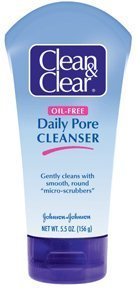 Special Pack of 5 CLEAN & CLEAR DAILY PORE CLEANSER 5.5 oz
