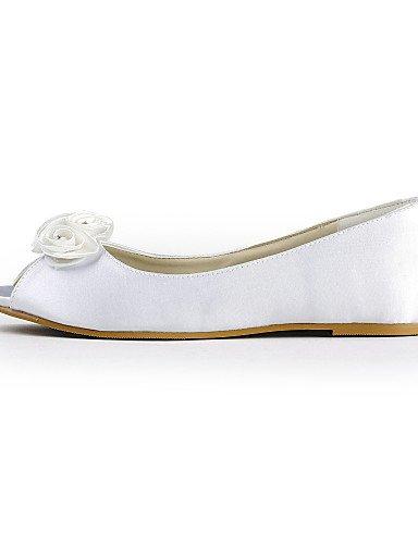 marfil mujer Fiesta Y Under Blanco Boda punta Zapatos Zq Noche De Bailarina planos Abierta ivory boda 1in w8PxOxzq6