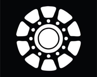 [Iron Man Arc Reactor Vinyl Decal Sticker|Cars Trucks Vans Walls Laptops|WHITE|5 In|KCD600] (Iron Fist Superhero Costumes)