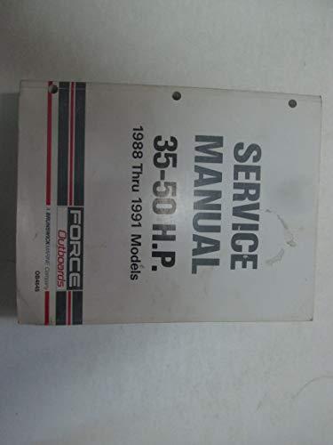 (1988 Thru 1991 Force Outboards 35-50 HP Service Repair Shop Manual OB4645 ***)