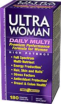 Vitamin World Ultra Woman Daily Women's Multi Vitamin, 180 Caplets
