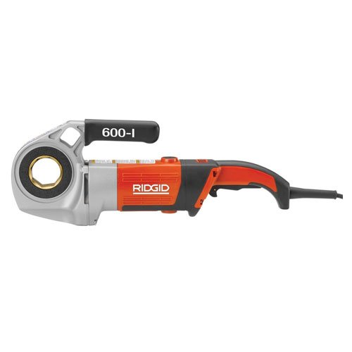 RIDGID 44918 Model 600-I Hand-Held Power Drive Kit, Pipe Threading Machine and 1/2-Inch to 1-1/4-Inch 11-R NPT Pipe Threading Die Heads with Carrying Case for Threading Pipe ()