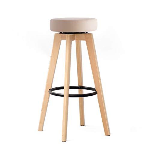 NUBAO Bar Stool, Bar Chair, Counter Chair, Restaurant High Stools, Sponge Cushion 360° Rotation Bentwood 74cm High Suitable 110cm Bar Counter (Color : ()