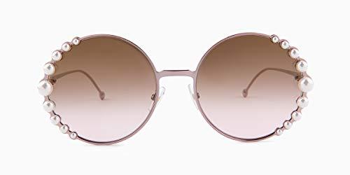 161baae372a Fendi Women s Round Pearl Frame Sunglasses