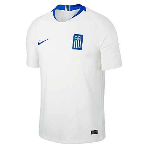 Nike 2018-2019 Greece Home Football Soccer T-Shirt Jersey (Kids)