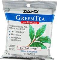 Herbalozenge Green Tea with Echinacea Green Tea Flavor 15 Lozenges (Herbal Green Tea Lozenge)