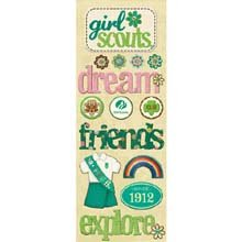 - Girl Scouts of the United States of America Adhesive Chipboard-Girl Scout
