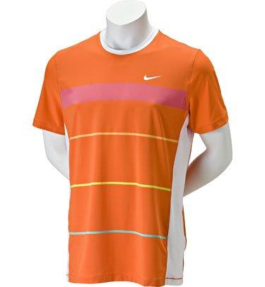 Rafael Nadal australiano NIKE hombre iniciación y aplastarán tenis tripulantes Remera, naranja, XL: Amazon.es: Jardín