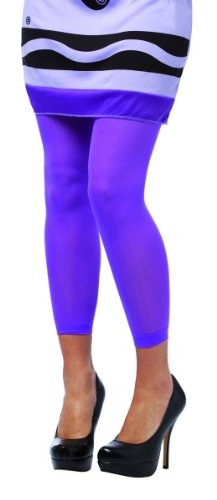 [Rasta Imposta 213475 Crayola - Footless Adult Tights - Purple] (Crayola Wisteria Crayon Costumes)