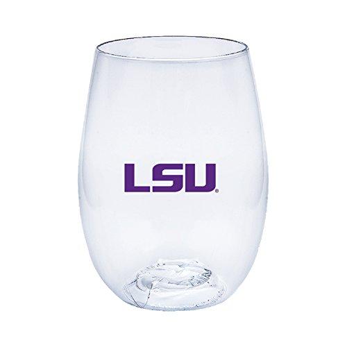 State University Wine Glass (Louisiana State University (LSU) Tigers Govino Shatterproof Wine Glasses - Boxed set of 4)