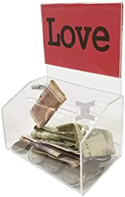 ABCCS Caja de donación de acrílico Transparente - Caja de boleta ...