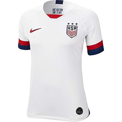 Nike USA 2019 Womens Home Jersey (White, Womens Small)