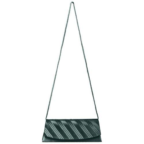 CASPAR Fashion - Cartera de mano con asa para mujer - dunkelgrün
