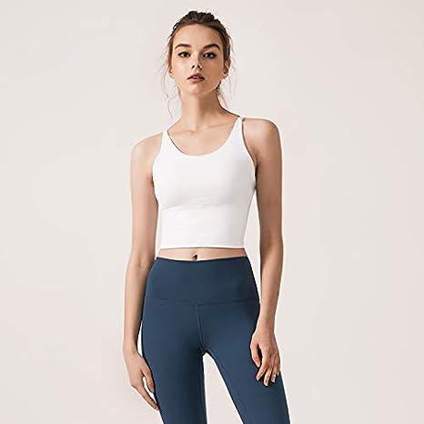 Psanfeng Camisas y Camisetas Chaleco para Mujer Correa Delgada para el Hombro Ropa de Yoga Ropa Interior Deportiva, Blanca, M: Amazon.es: Deportes y aire libre