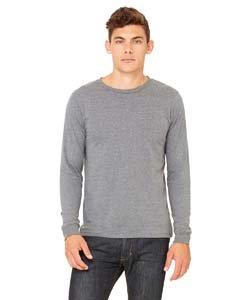 Canvas 3501 Mens Jersey Long-Sleeve T-Shirt, Deep Heather, Extra Large Canvas Long Sleeve Jersey