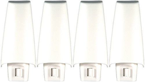 GE White Shade Incandescent Night Light 52194 (Pack of 4)