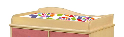 Heart Throb Changing Pad Cover by Room Magic   B001KZ6SNW