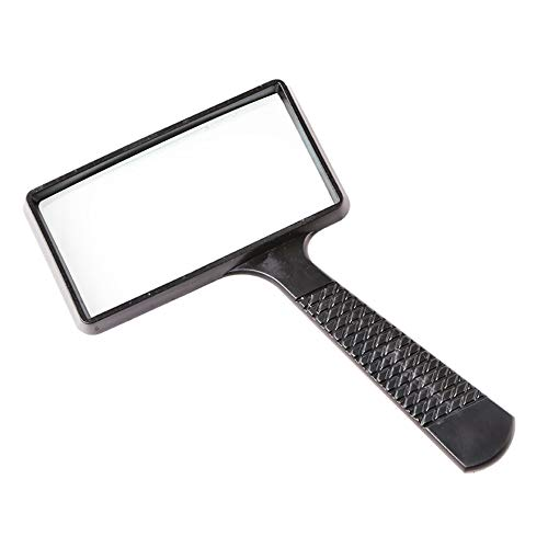 (GUFENG Read HD Rectangle Handheld Magnifier Read Newspaper Elderly Magnifying Glass 10× Zoom)